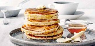 pancake integrali con zabaione - ricettasprint