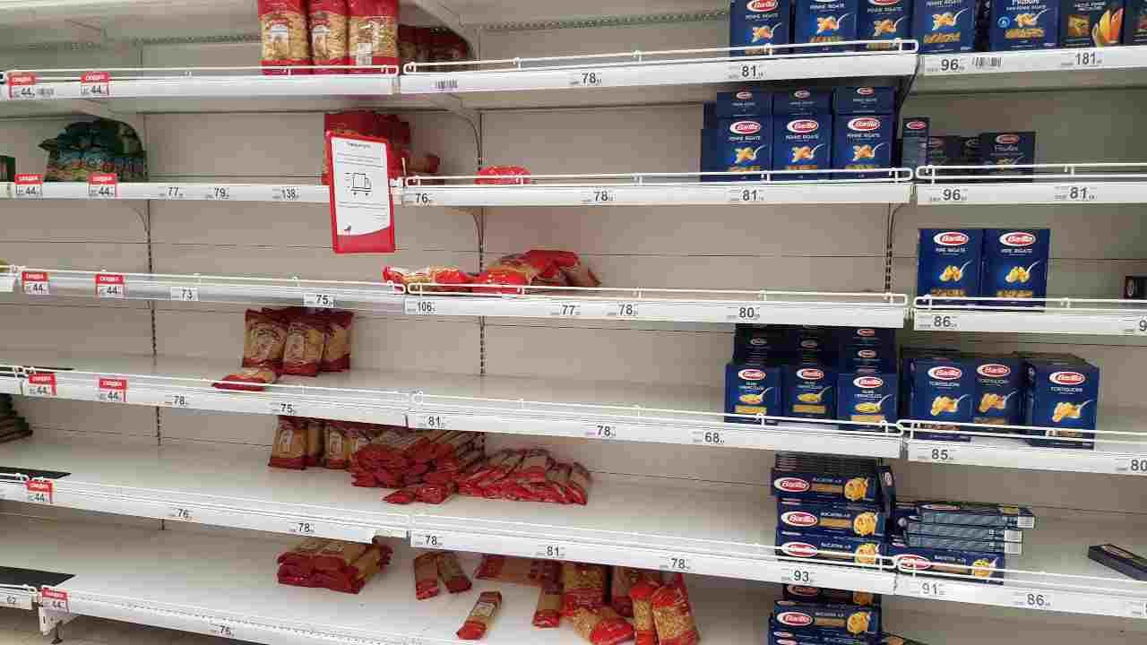 Covid 19 Italia pasta farina