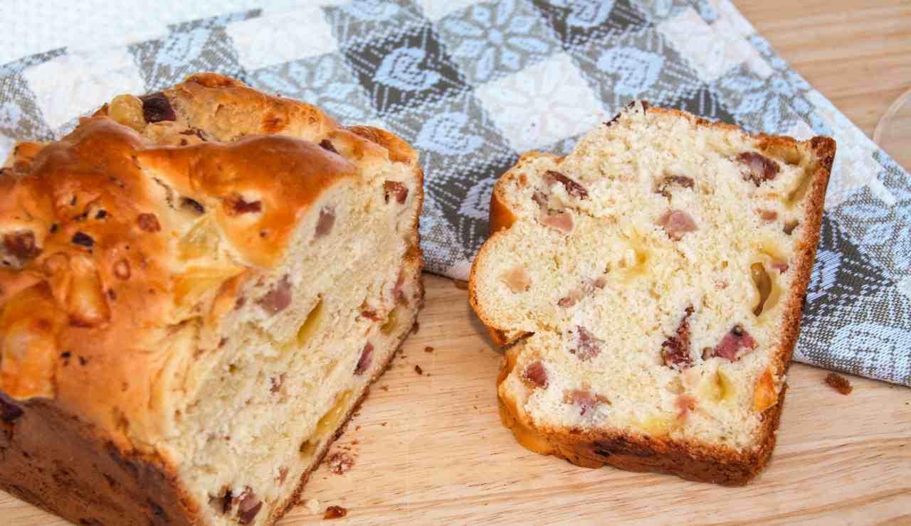 plumcake salato con scamorza e prosciutto crudo - ricettasprint