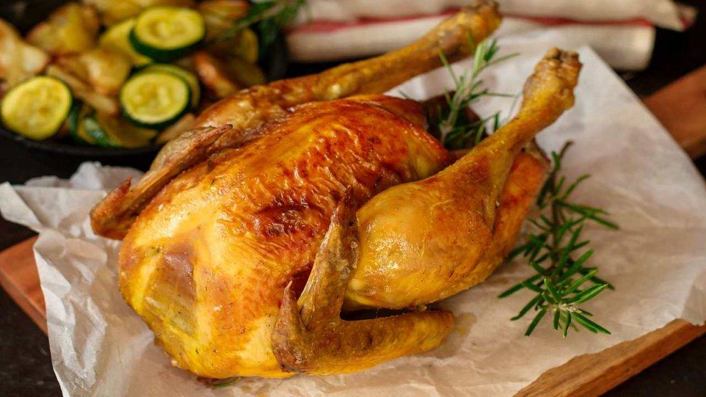 pollo arrosto cottura senza olio - ricettasprint