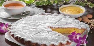 Crostata al burro di arachidi con crema