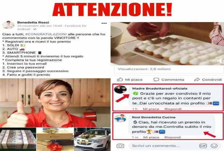 Benedetta Rossi vittima di truffa - ricettasprint