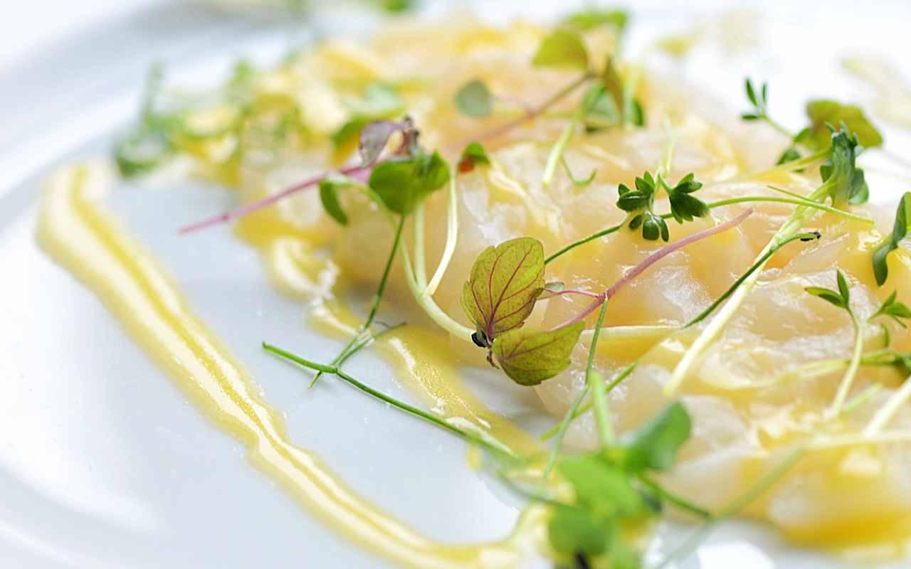 Carpaccio di baccalà marinato al lime FOTO ricettasprint