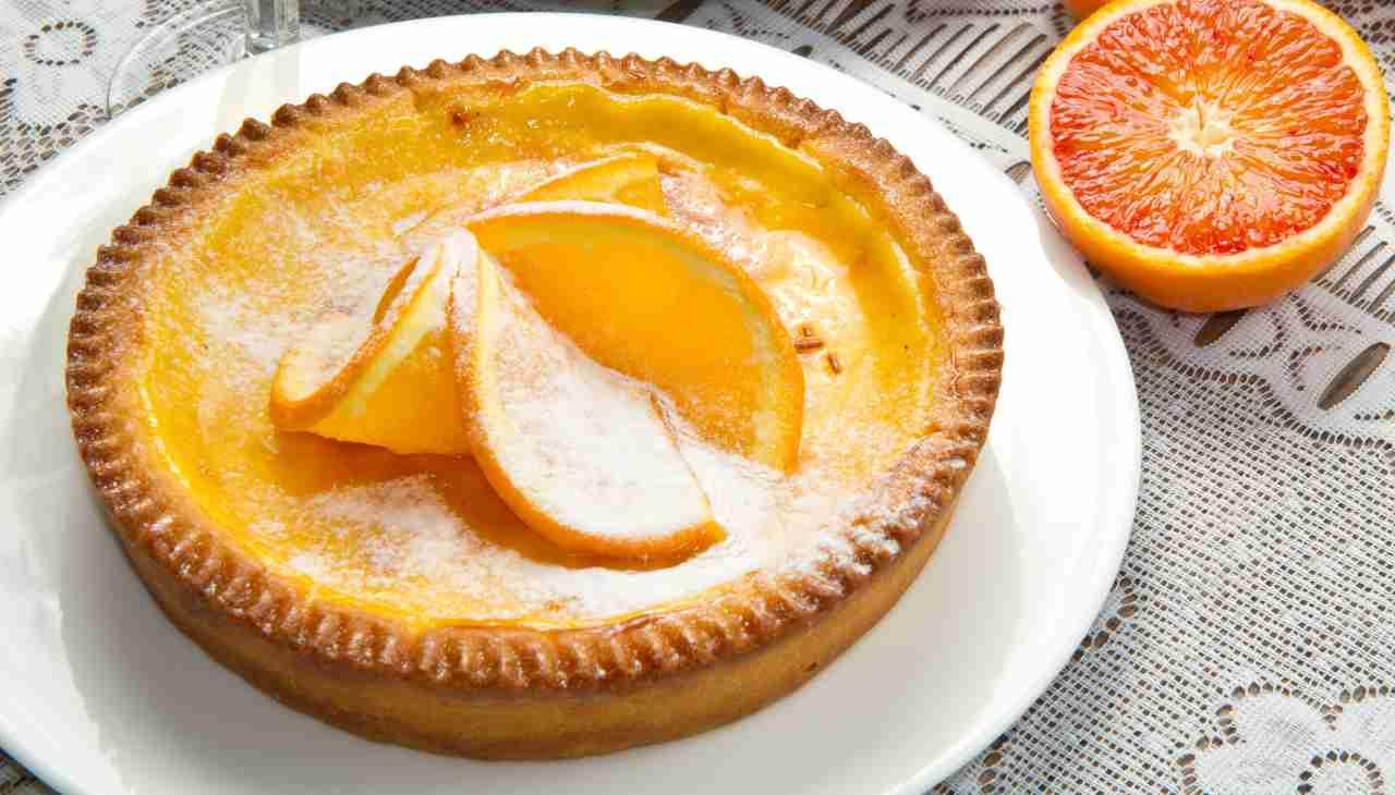 Crostata con crema all'arancia - ricettasprint