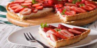 Crostata light con ricotta e fragole