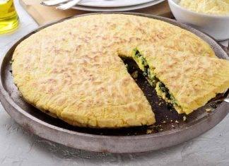 Focaccia ripiena in padella con verdure e formaggio filante ricettasprint