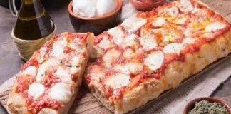 Pizza con impasto alveolato