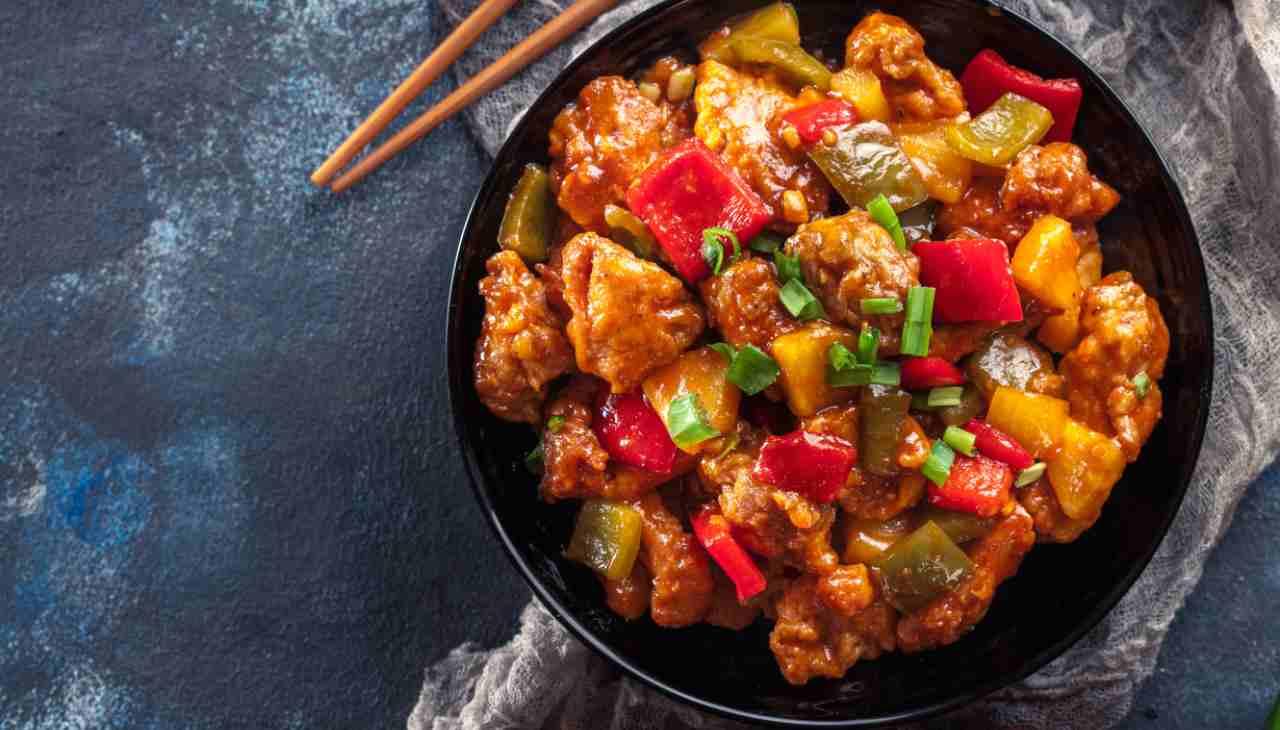 Pollo al lime con peperoni dolci - ricetasprint