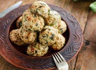 Polpette di zucchine ripiene al prosciutto FOTO ricettasprint