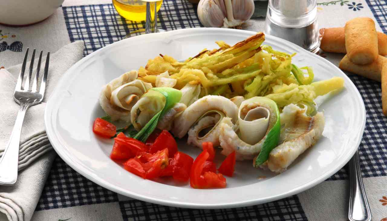 Rotolini di platessa con pomodorini e verdure pastellate al forno - ricettasprint