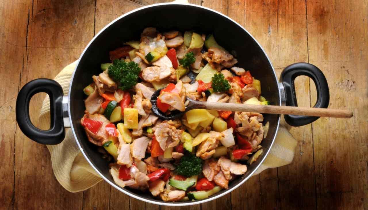 Straccetti di pollo con verdure gratinati - ricettasprint