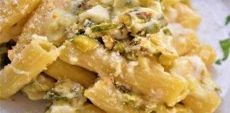Tortiglioni con pistacchi e robiola