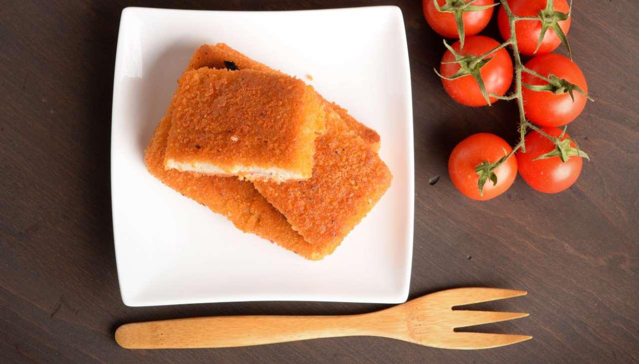 Zucchine cremose in carrozza con menta - ricettasprint