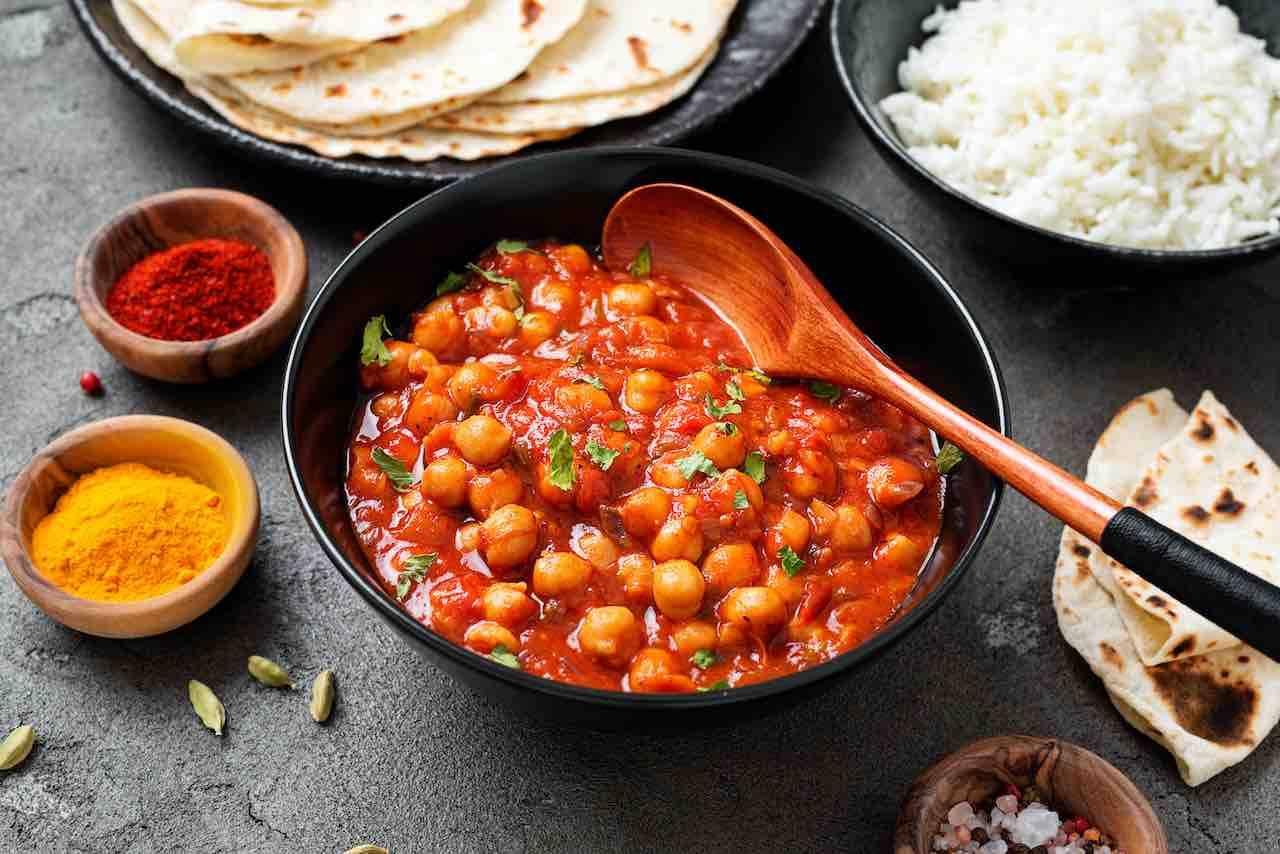 curry indiano ai ceci