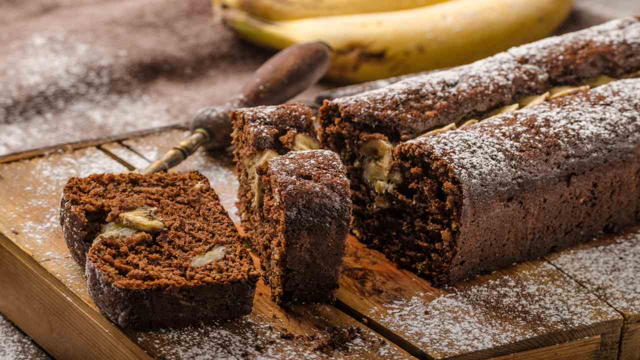 Banana bread al cioccolato