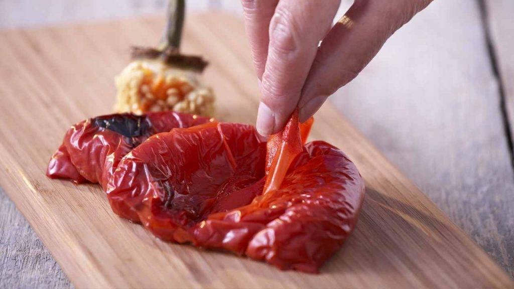 Cotoletta di peperoni con ripienoCotoletta di peperoni con ripieno