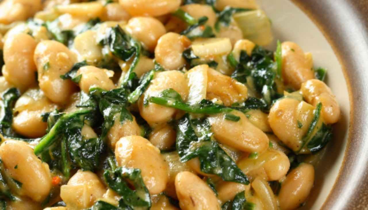 Fagioli e spinaci piccanti con paprika - ricetta sprint