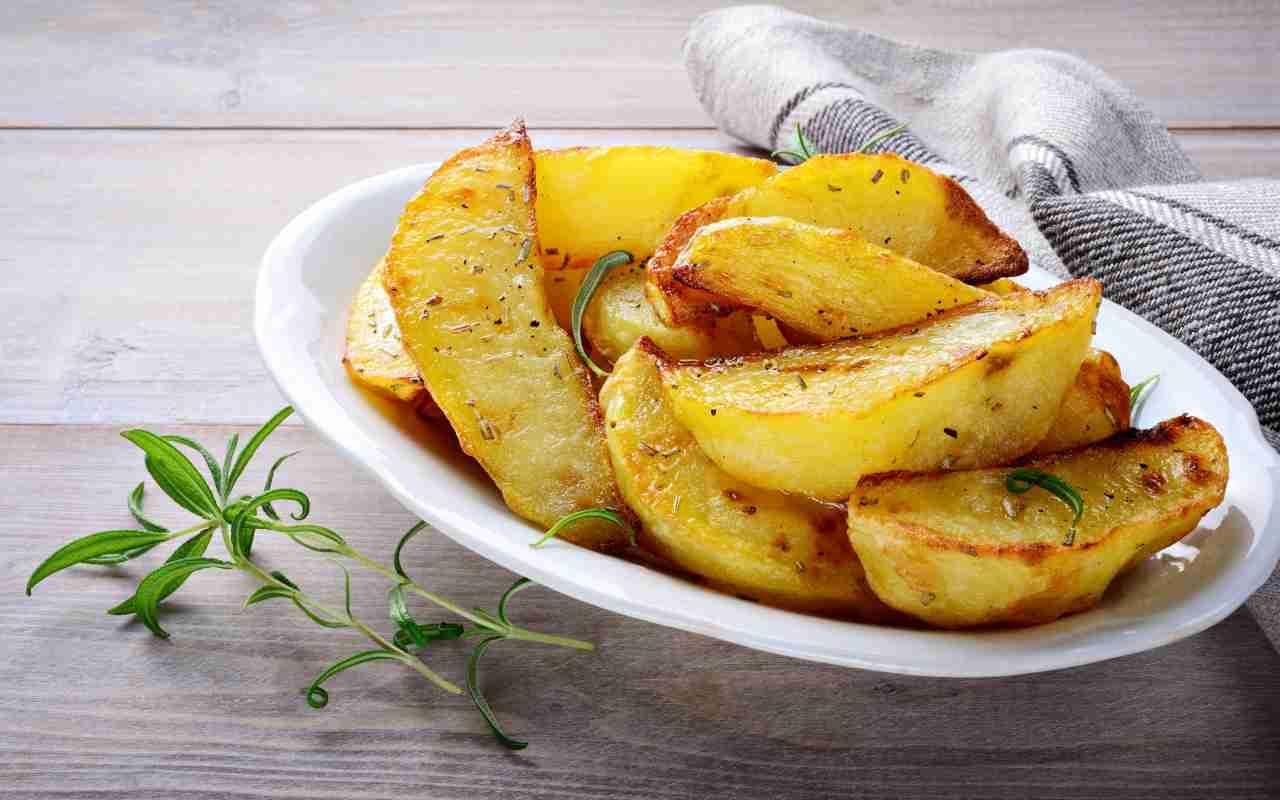 Patate croccanti al forno con bicarbonato FOTO ricettasprint