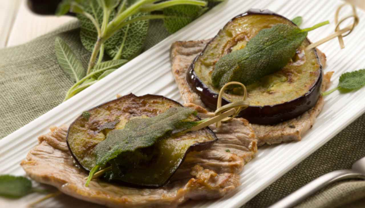 Saltimbocca carne e melanzane - ricettasprint