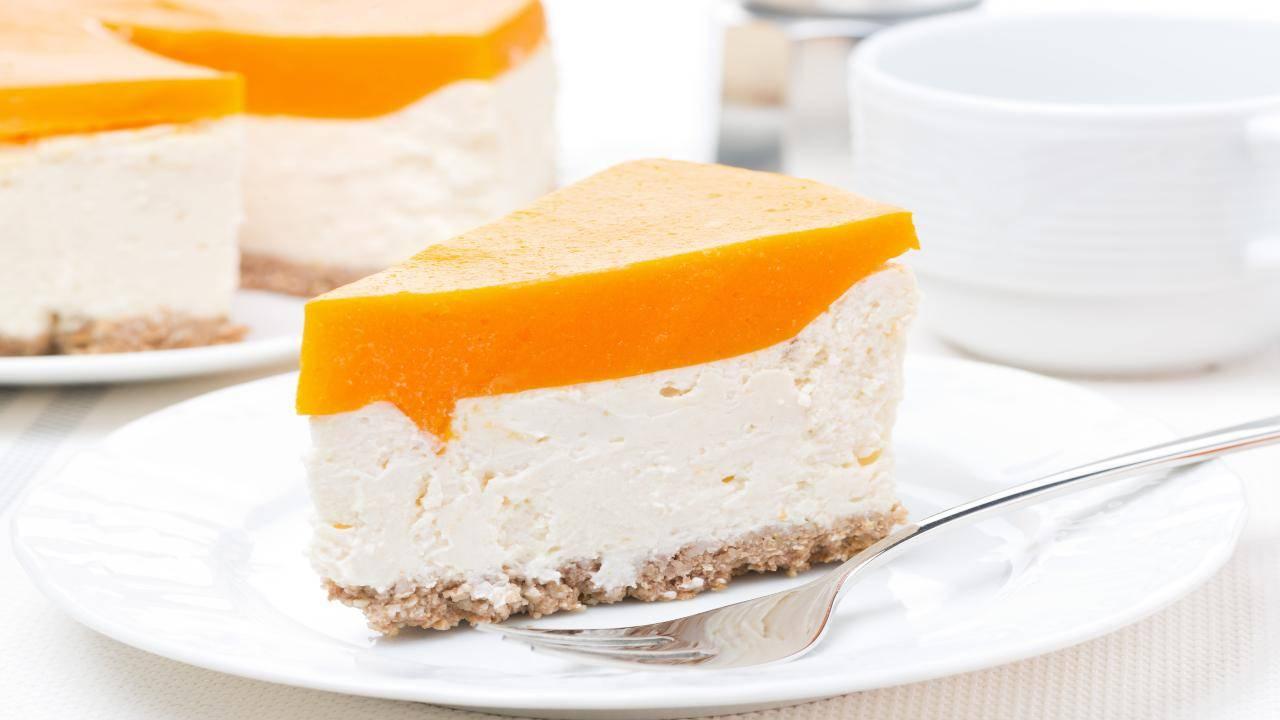 Torta fredda al cantalupo