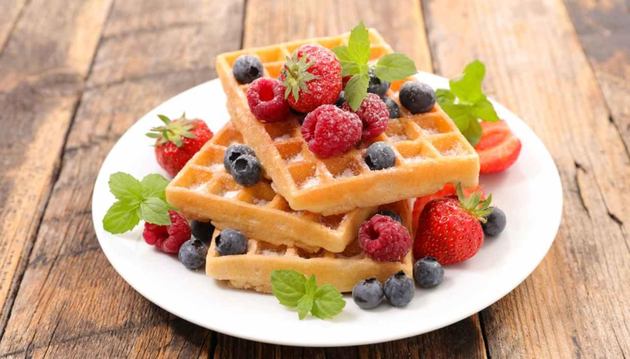 Waffle allo yogurt - ricetta sprint