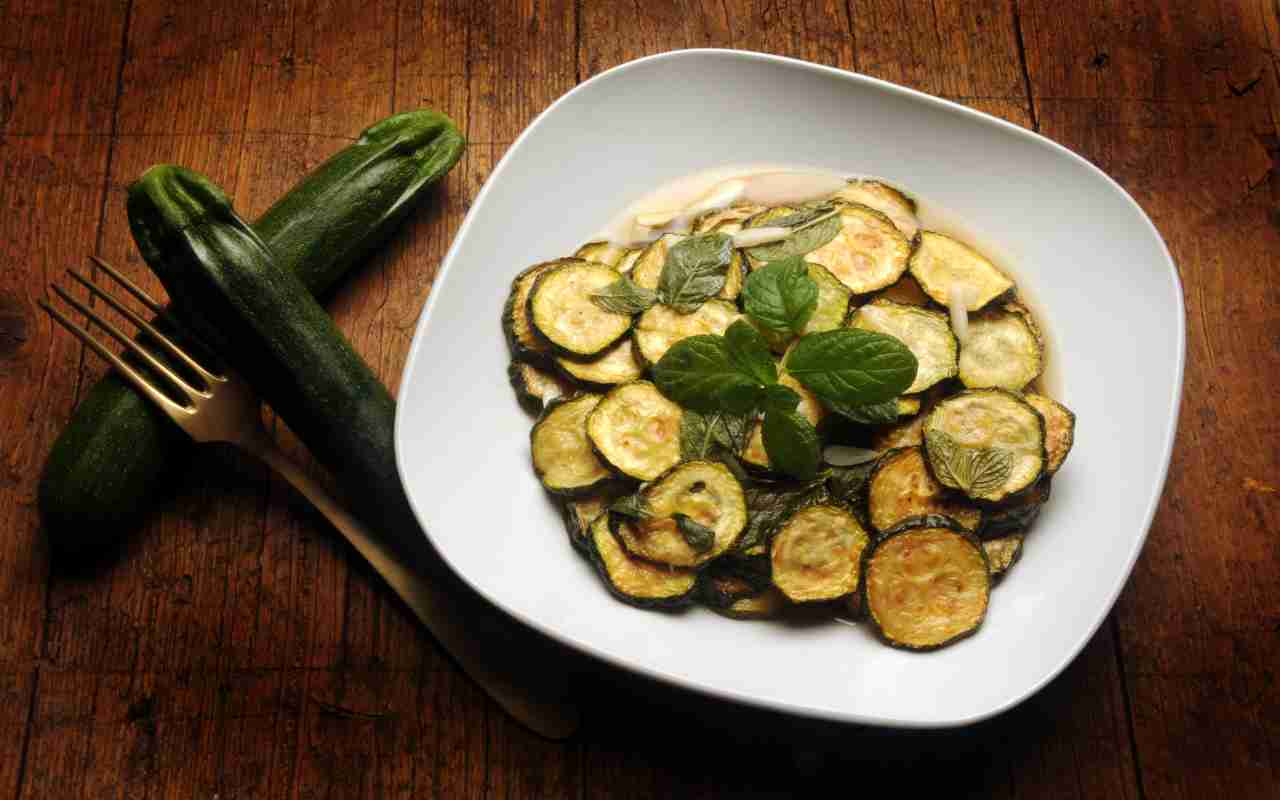 Zucchine in carpione alla piemontese FOTO ricettasprint