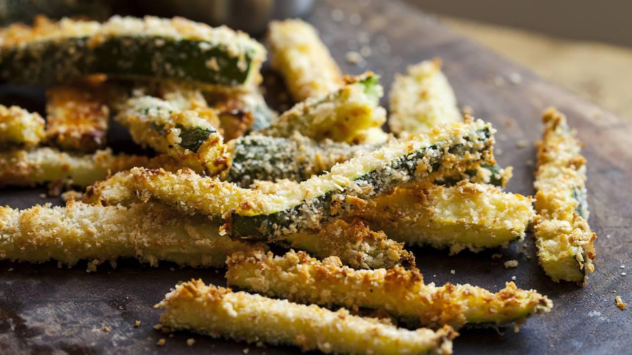 Bastoncini di zucchine fritti,