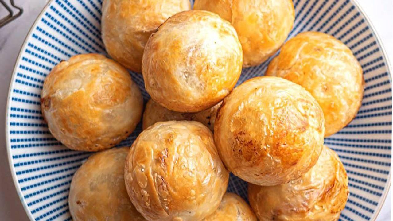 Bomboloni di pasta sfoglia e pan di stelle