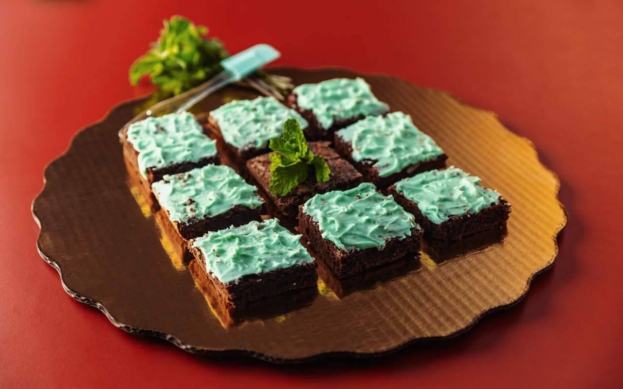 Brownies alla menta FOTO ricettasprint