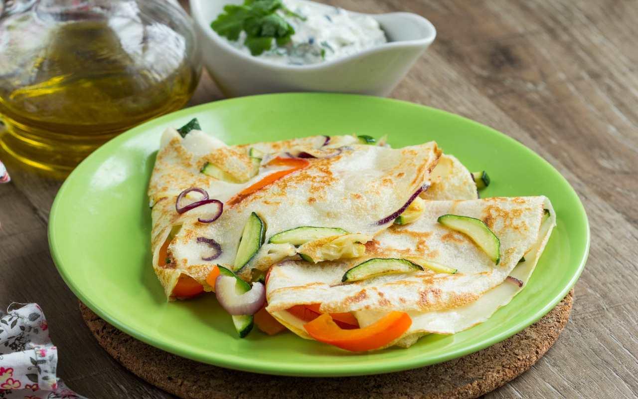 Crepes robiola e zucchine FOTO ricettasprint