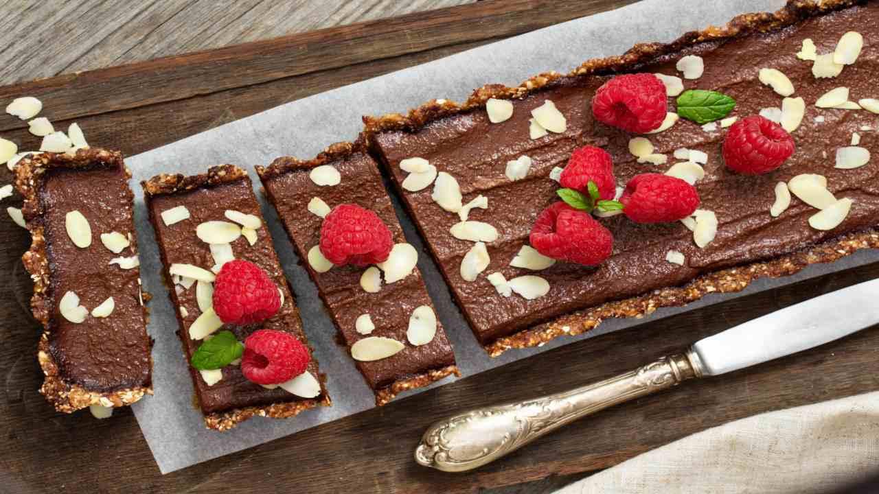 Crostata ai cerali e cioccolato