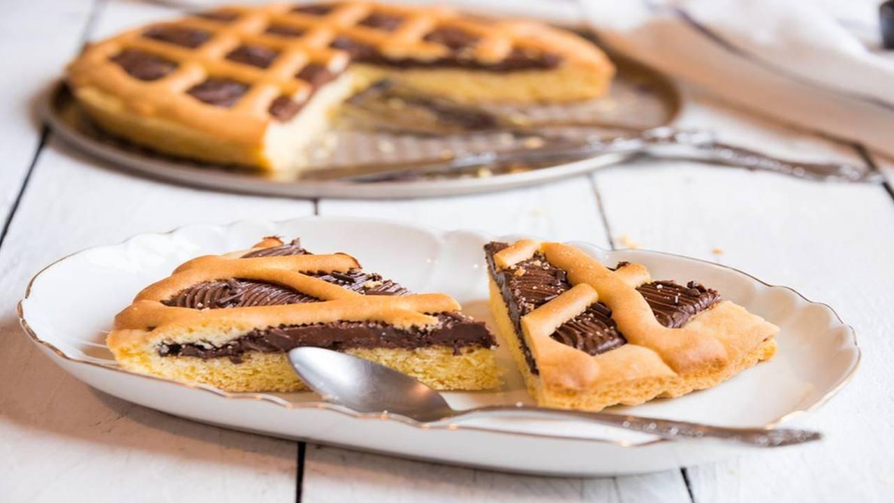 Crostata al cioccolato e burro di arachidi