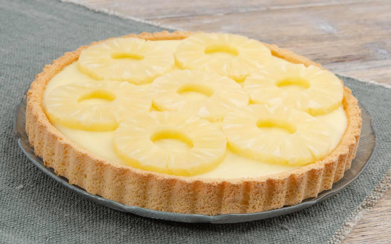 Crostata ananas e crema FOTO ricettasprint