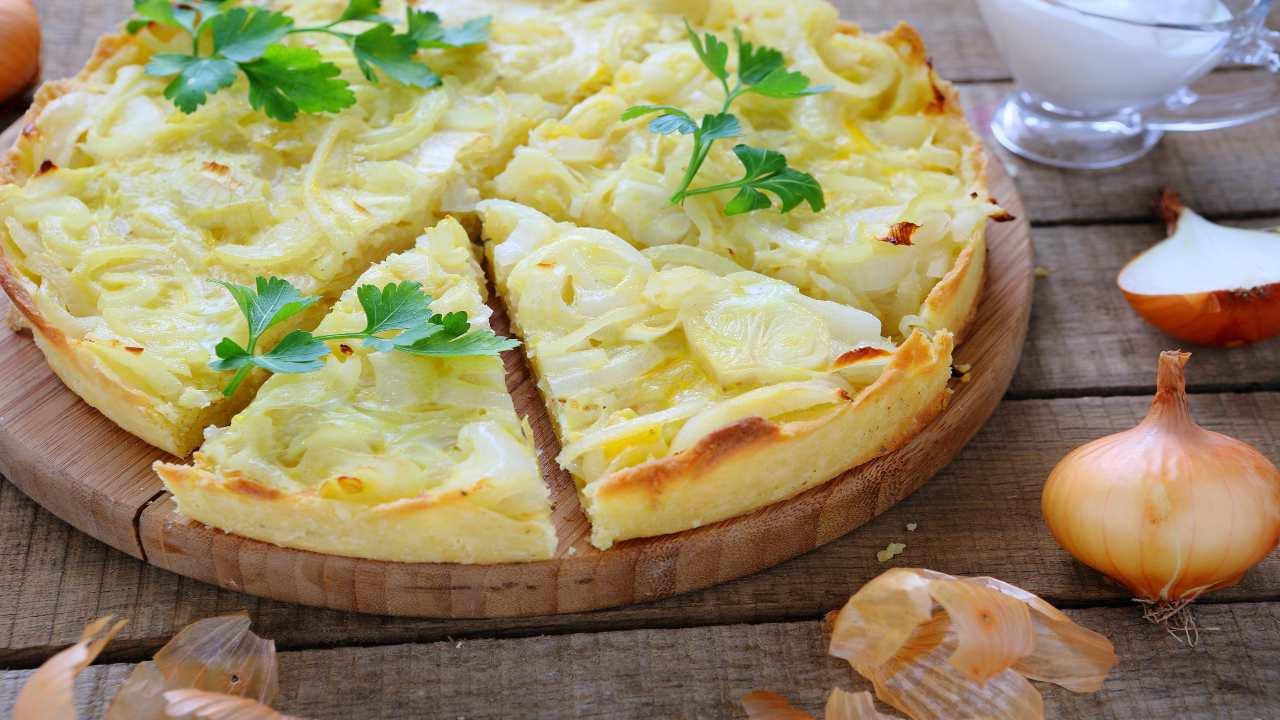 Crostata di patate e cipolla