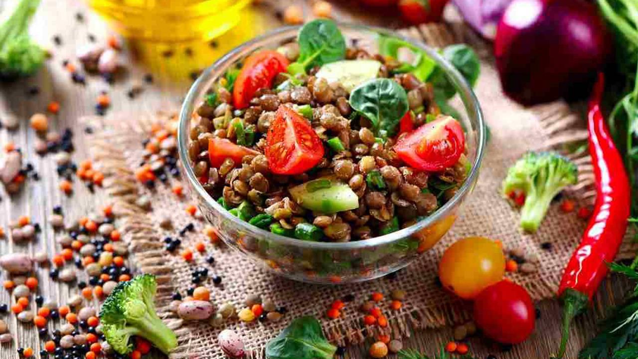 Insalata di lenticchie e pomodorini gluten free