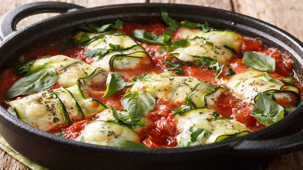 Involtini di zucchine in padella