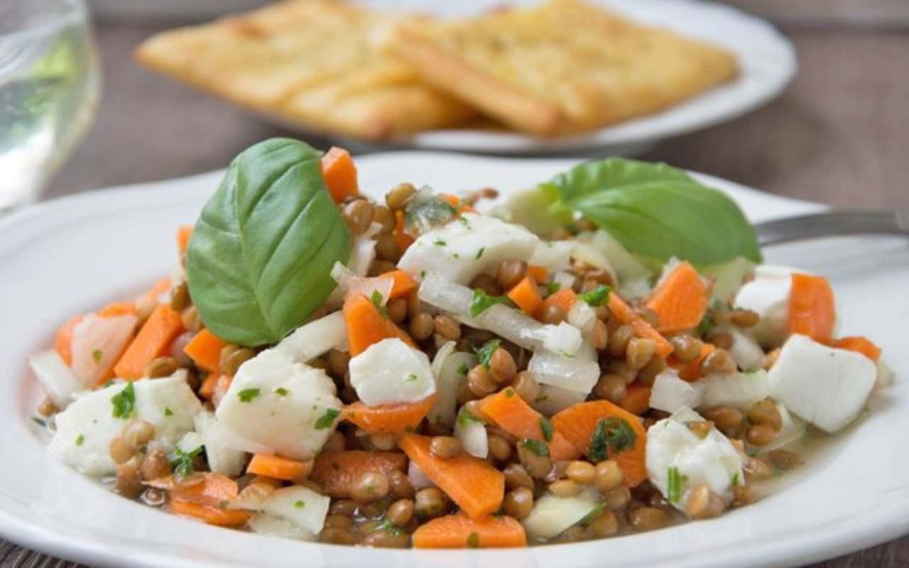 Lenticchie, mozzarella e glassa all'aceto FOTO ricettasprint