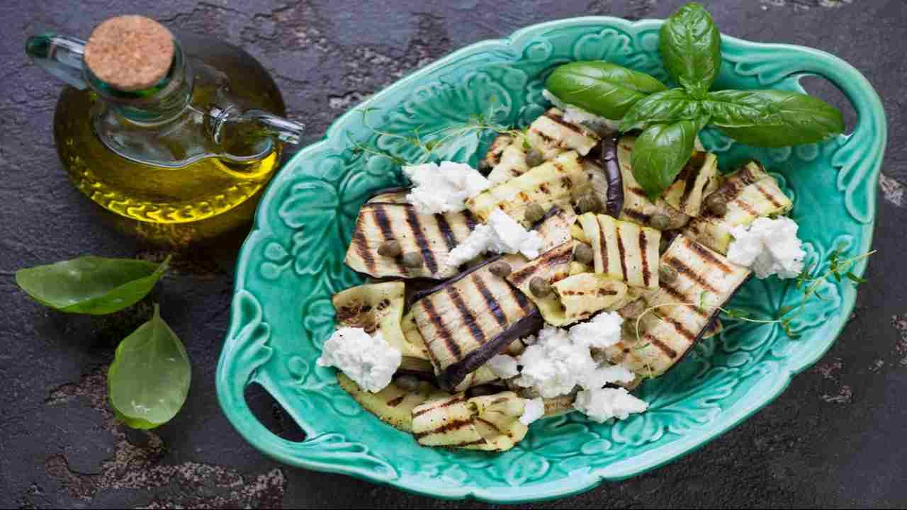 Melanzane zucchine e feta