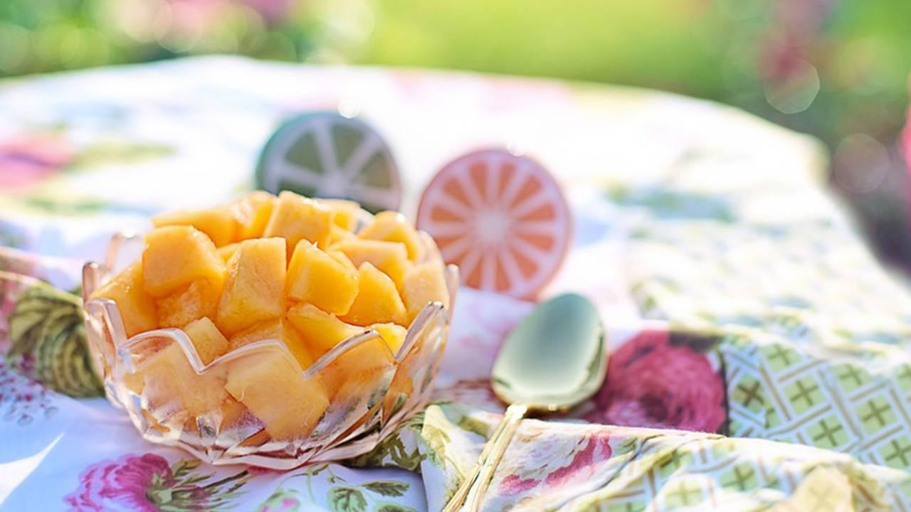 Melone sciroppato con succo di limone