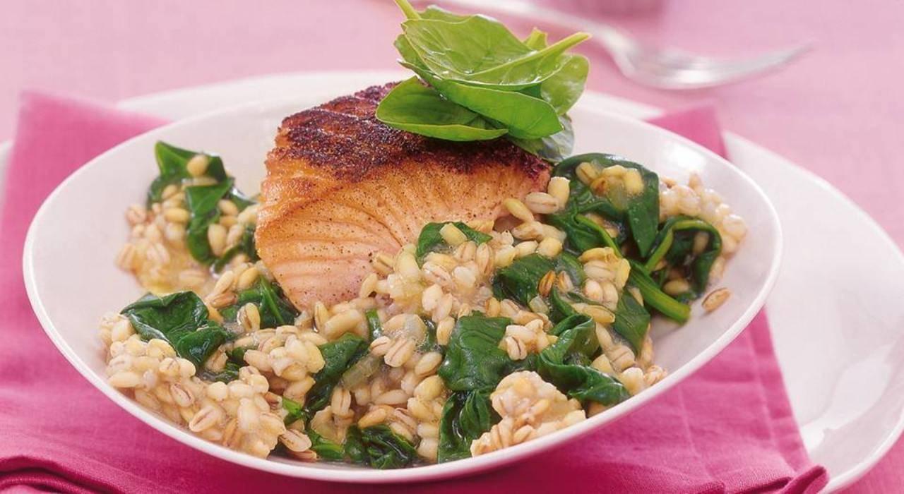 Riso con spinaci e salmone FOTO ricettasprint (1)