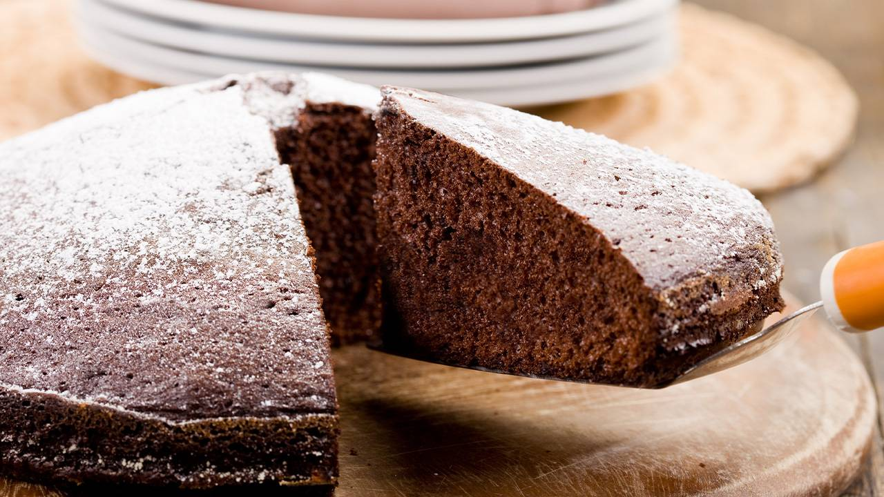 Torta al cacao e panna