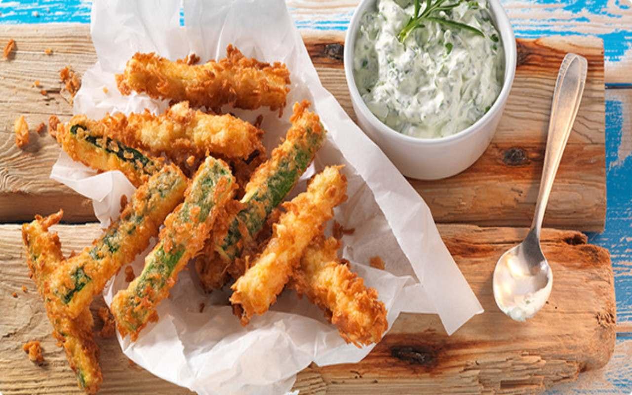 Zucchine al pangrattato FOTO ricettasprint