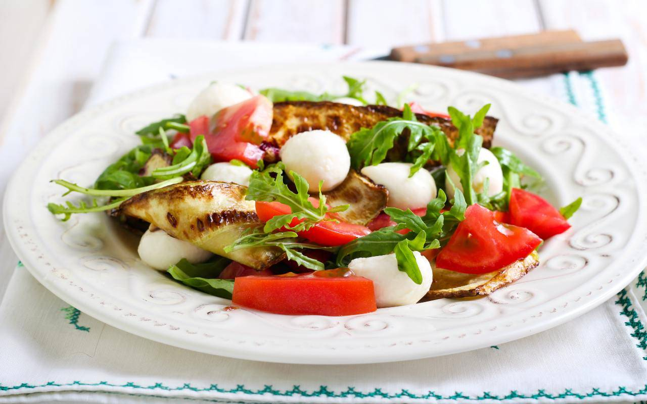 Zucchine pomodori e mozzarella FOTO ricettasprint