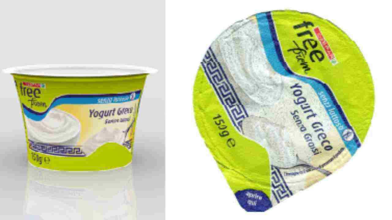 Ritiro alimentare yogurt