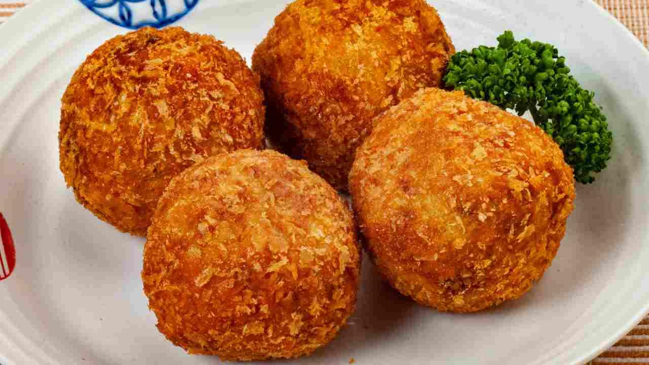 palline di patate e zucca