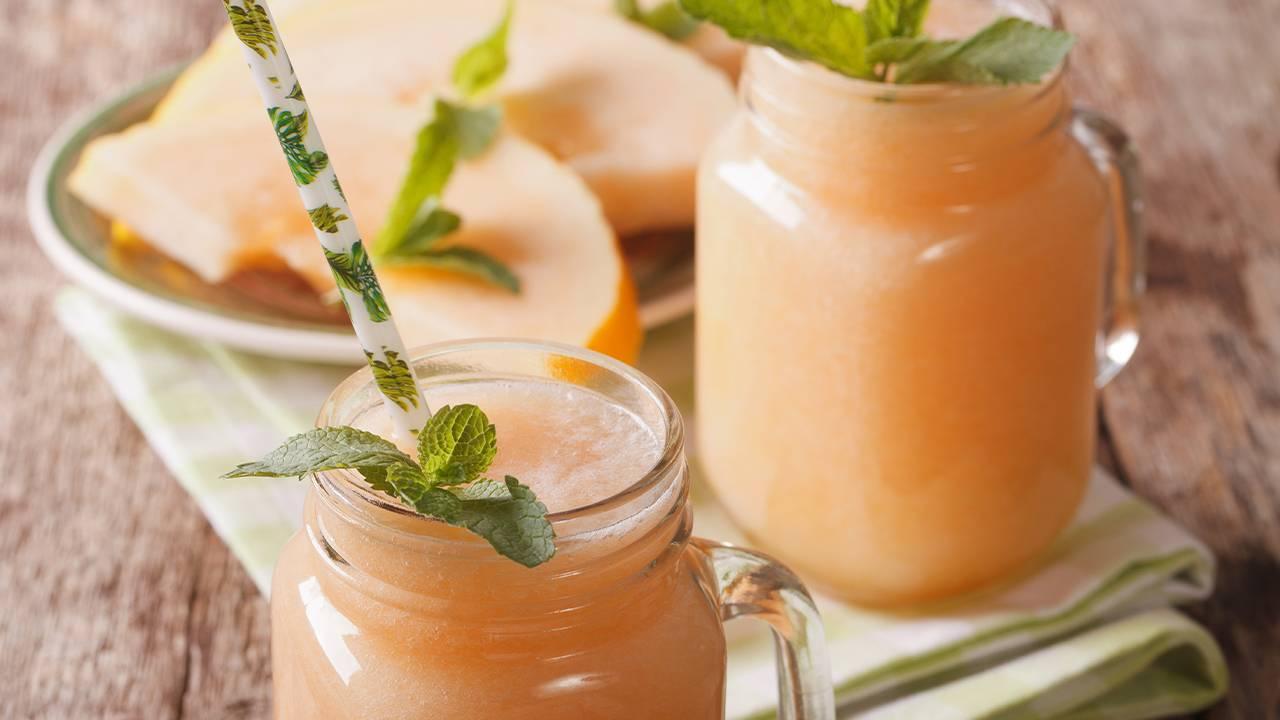 Bevanda al gusto di melone latte e yogurt