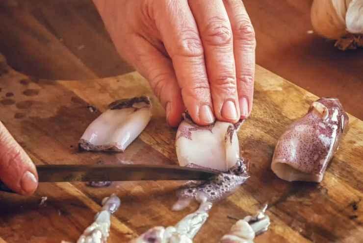 Pasta con calamari