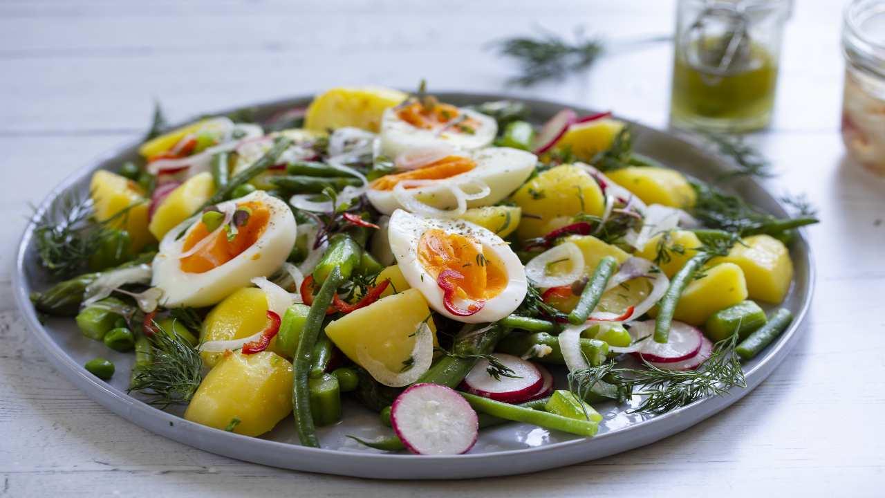 Fagiolini con uova