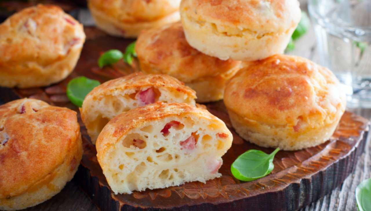 muffin prosciutto finger food salati