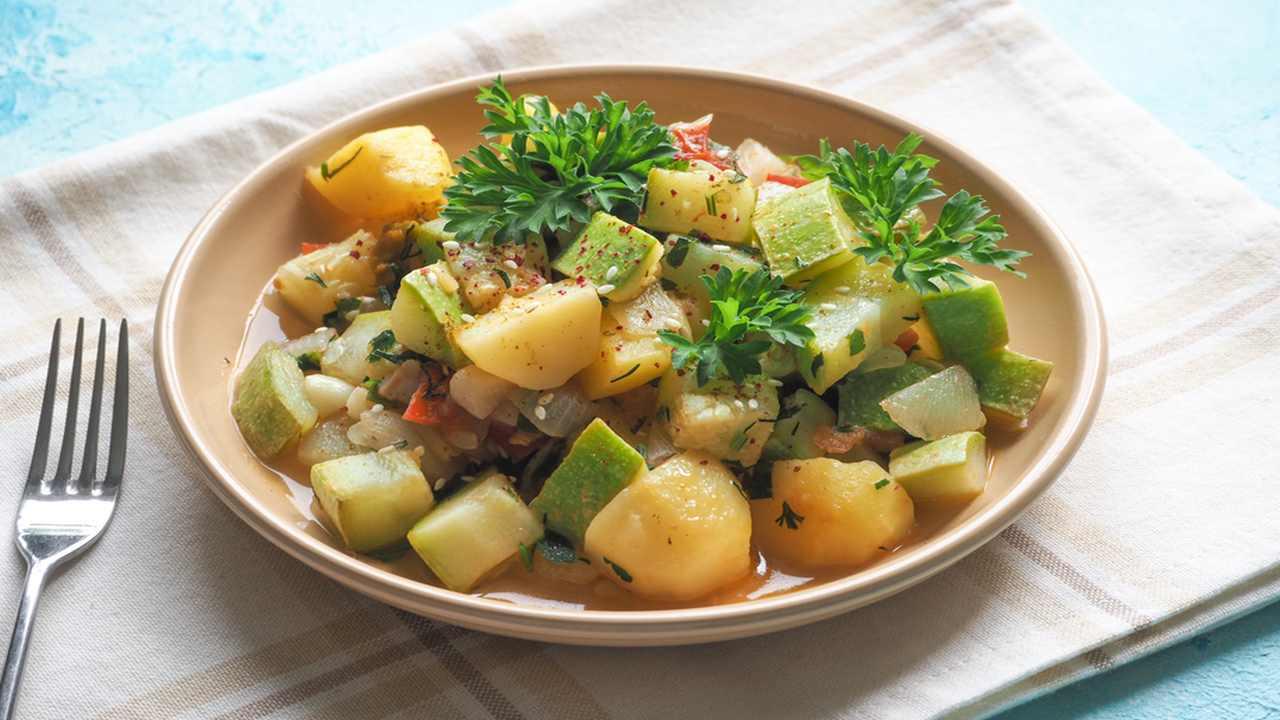Patate zucchine e porro